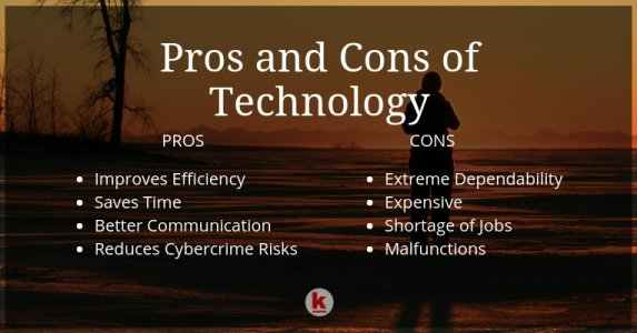 Major Pros and Cons of Technology