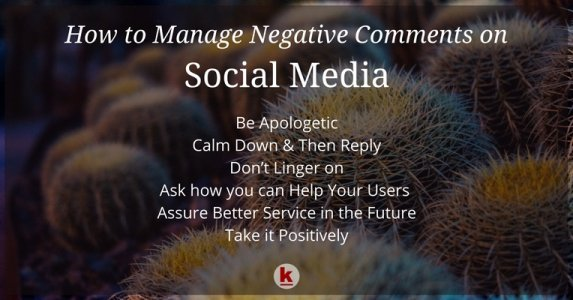 How to Handle Negative Comments on Social Media Platforms