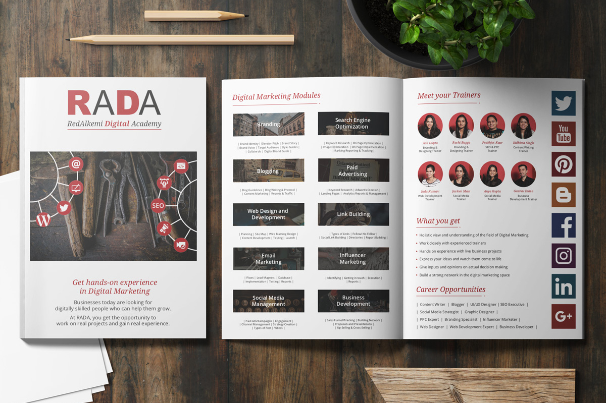 Digital Marketing Academy Brochure Design
